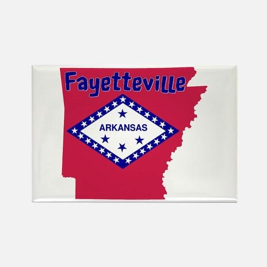 Fayetteville Rectangle Magnet