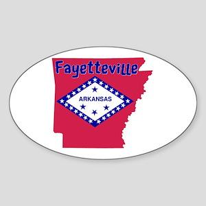 Fayetteville Sticker (Oval)