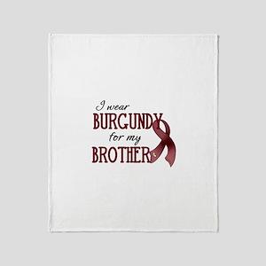 Wear Burgundy - Brother Throw Blanket