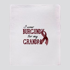 Wear Burgundy - Grandpa Throw Blanket