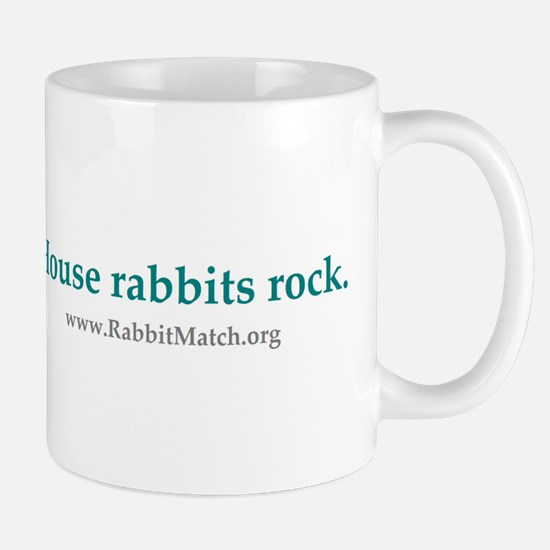 House rabbits rock. Rabbits Rock Mug