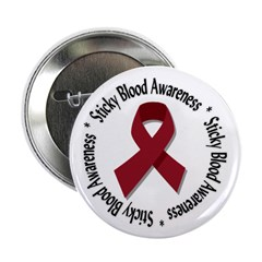 "Sticky Blood Awareness 2.25"" Button (10 pack)"