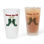 Bunny the Elf LIVE! Drinking Glass