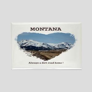 Montana Dirt Roads Magnets