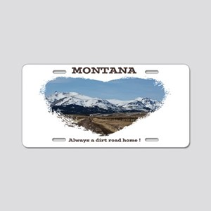 Montana Dirt Roads Aluminum License Plate