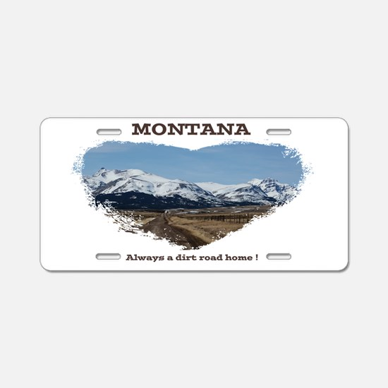 Montana Dirt Roads Aluminum License Plate