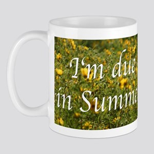 Due in Summer (flowers) Mug