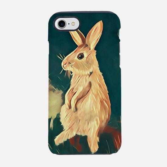 Super Cute Bunny Rabbit iPhone 7 Tough Case