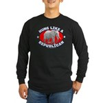 Hung like a Republican Long Sleeve Dark T-Shirt