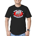 Hung like a Republican Men's Fitted T-Shirt (dark)