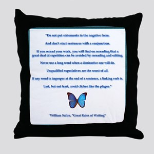 Great Rules of Writing Throw Pillow