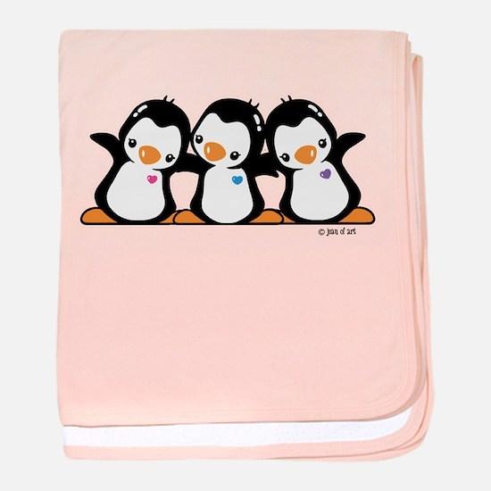 Penguins (together) baby blanket