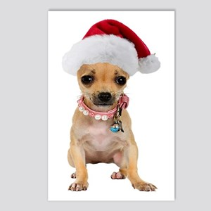 Santa Chihuahua Postcards (Package of 8)