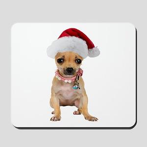 Santa Chihuahua Mousepad