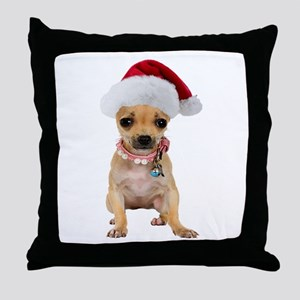 Santa Chihuahua Throw Pillow