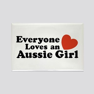 Everyone Loves an Aussie Girl Rectangle Magnet