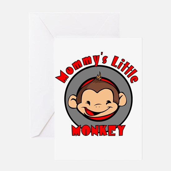 Mommy's little monkey (boy) Greeting Card