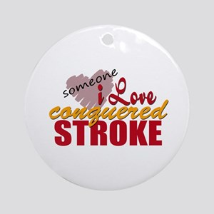 Someone I Love Conquered Stroke Ornament (Round)