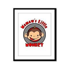 Mamaw's Little Monkey (boy) Framed Panel Print