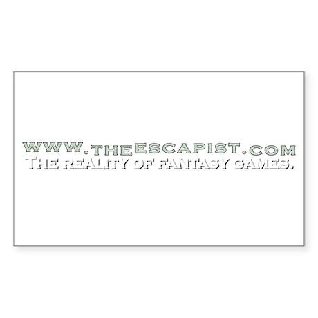 Rectangular Escapist Sticker