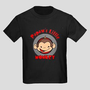 Papaw's Little Monkey (boy) Kids Dark T-Shirt