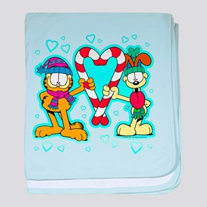 Garfield Candy Cane Heart Infant Blanket