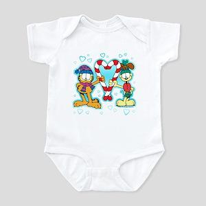 Garfield Candy Cane Heart Infant Bodysuit