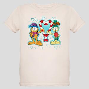 Garfield Candy Cane Heart Organic Kids T-Shirt