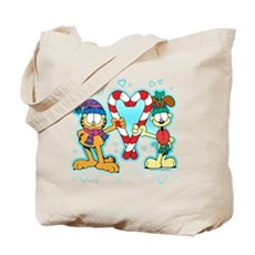 Garfield Candy Cane Heart Tote Bag