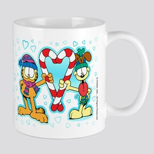 Garfield Candy Cane Heart Mug