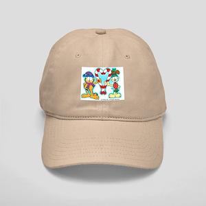 Garfield Candy Cane Heart Cap