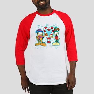 Garfield Candy Cane Heart Baseball Jersey