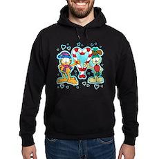 Garfield Candy Cane Heart Hoodie (dark)