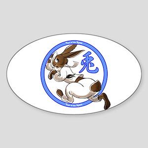 Run Rabbit Oval Sticker
