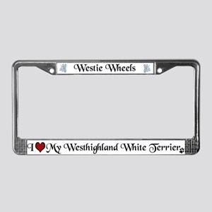 Westie License Plate Frame
