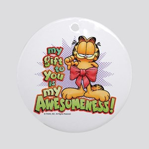 """My Awesomeness"" Ceramic Ornament (Round"