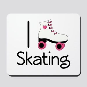 I Love Roller Skating Mousepad