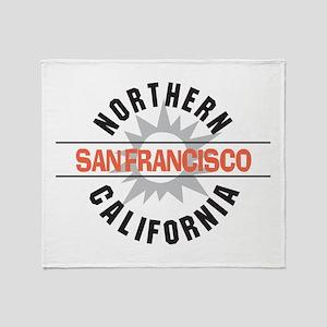 San Francisco California Throw Blanket