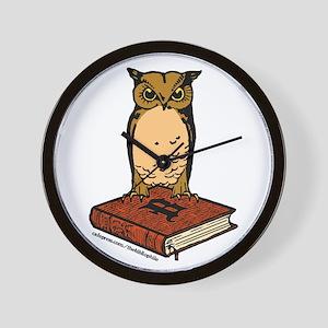 Bibliophile Owl Logo Wall Clock