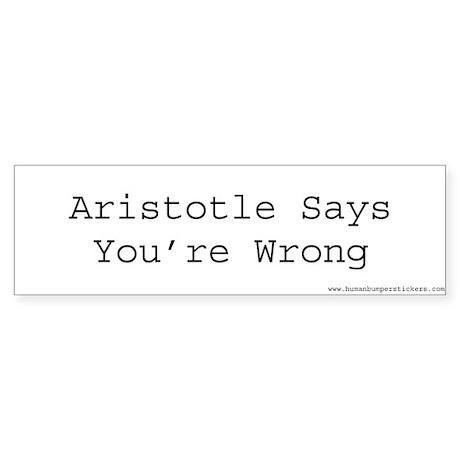 Aristotle Bumper Sticker