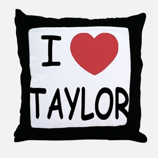 I heart taylor Throw Pillow