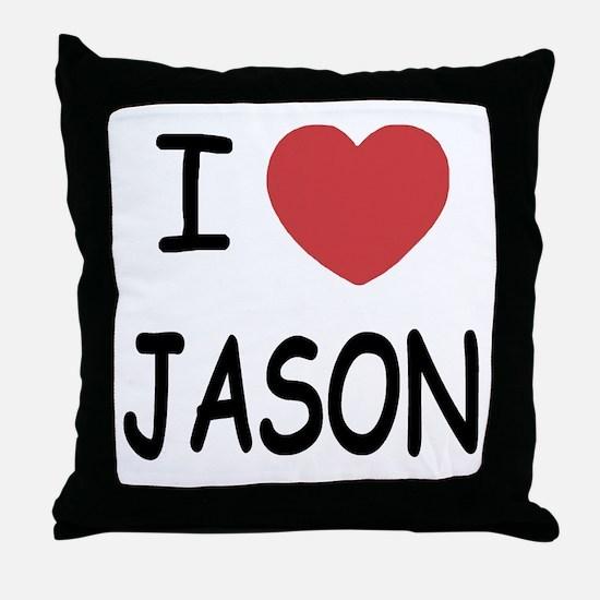 I heart jason Throw Pillow