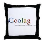 Goolag, Exporting Censorship, Throw Pillow