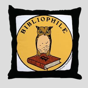 Bibliophile Seal w/ Text Throw Pillow