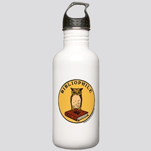 Bibliophile Seal w/ Text Stainless Water Bottle 1.