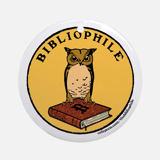 Bibliophile Seal w/ Text Ornament (Round)