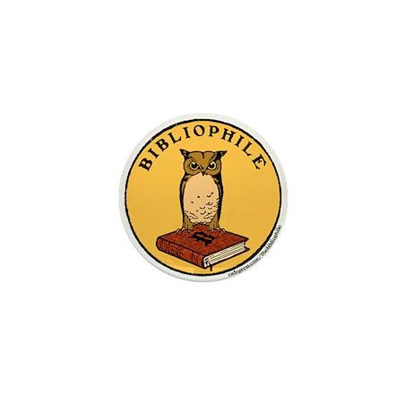 Bibliophile Seal w/ Text Mini Button