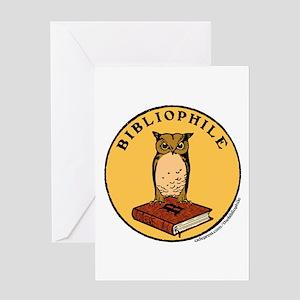 Bibliophile Seal w/ Text Greeting Card