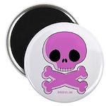 pink skull Magnet