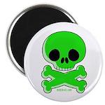 green skull Magnet